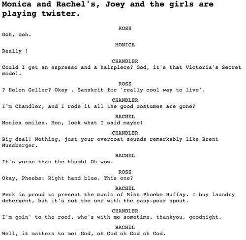 Friends script